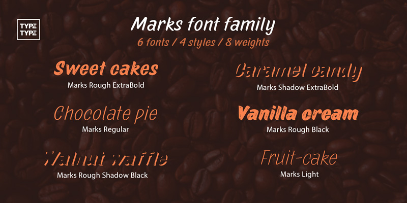 MARKS - 32 Type Family Fonts
