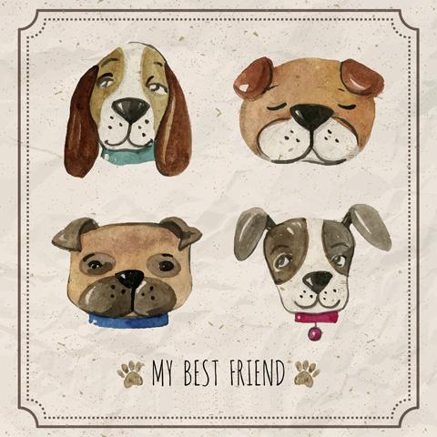 Free-Watercolor-Pets