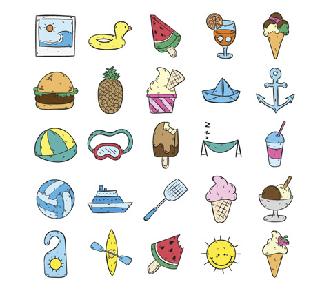 Hand_drawn_summertime_icons