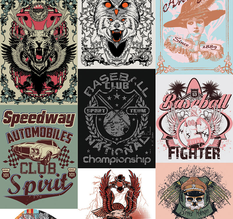 217 Tshirt Designs Preview 2