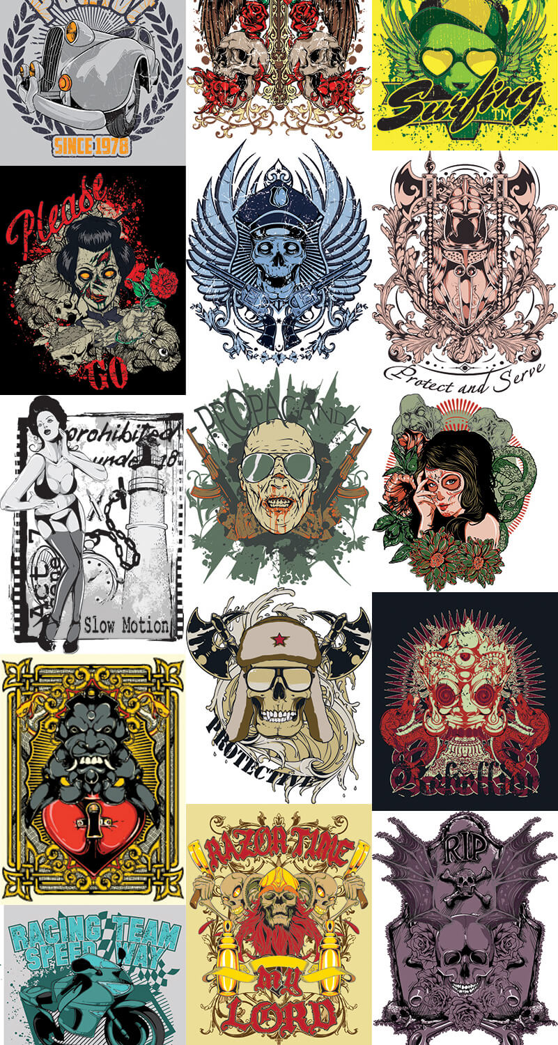 217 Tshirt Designs Preview 21