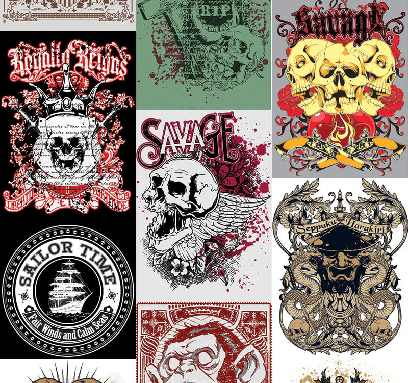 217 Tshirt Designs Preview 23