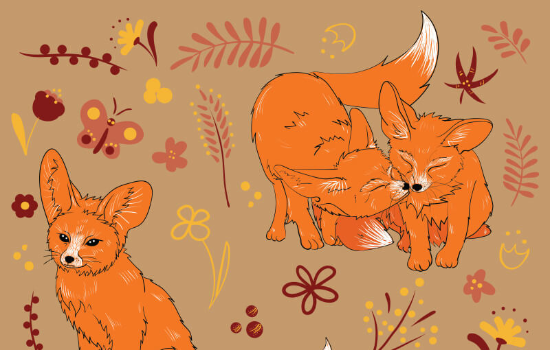FREE-Cute-foxes-Preview-1-1