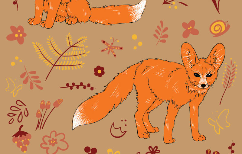 FREE-Cute-foxes-Preview-1-2