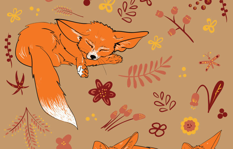 FREE-Cute-foxes-Preview-2-1
