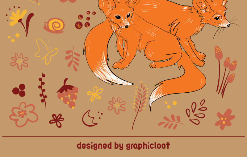 FREE-Cute-foxes-Preview-2-2