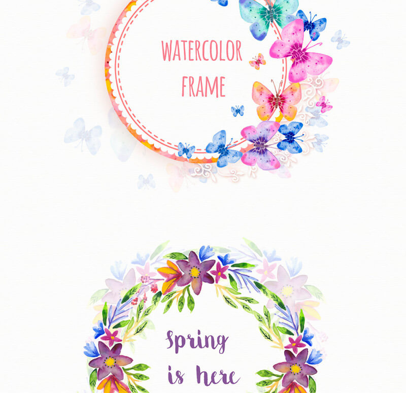 FREE-Floral-frames-Preview 5