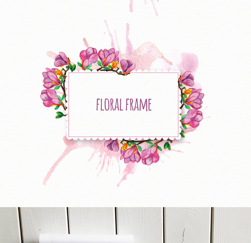 FREE-Floral-frames-Preview 7