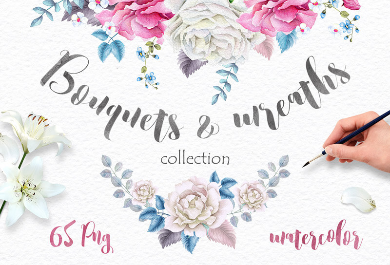 Spring Watercolor Collection 142