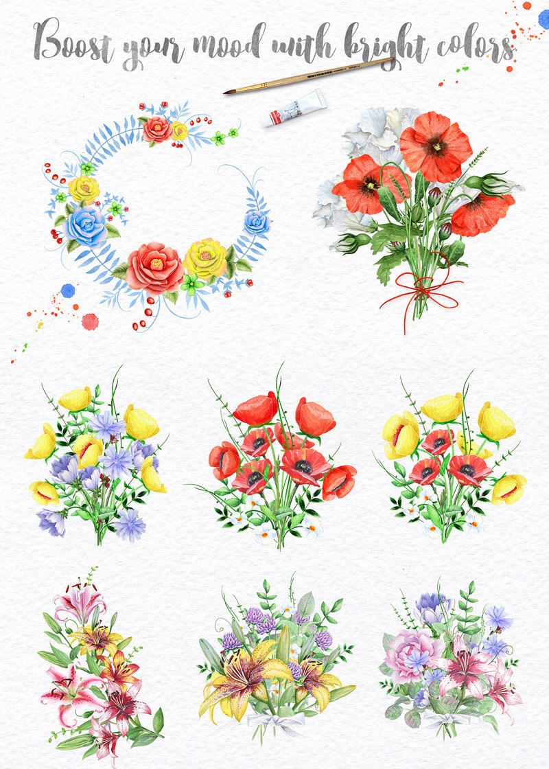 Spring Watercolor Collection 148
