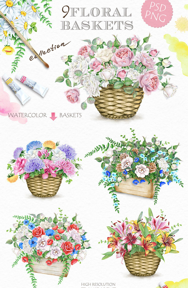Spring Watercolor Collection 16