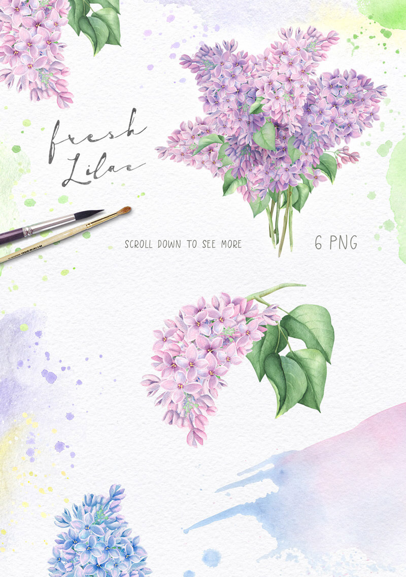 Spring Watercolor Collection 26