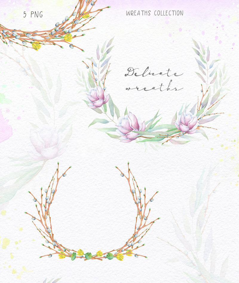 Spring Watercolor Collection 31