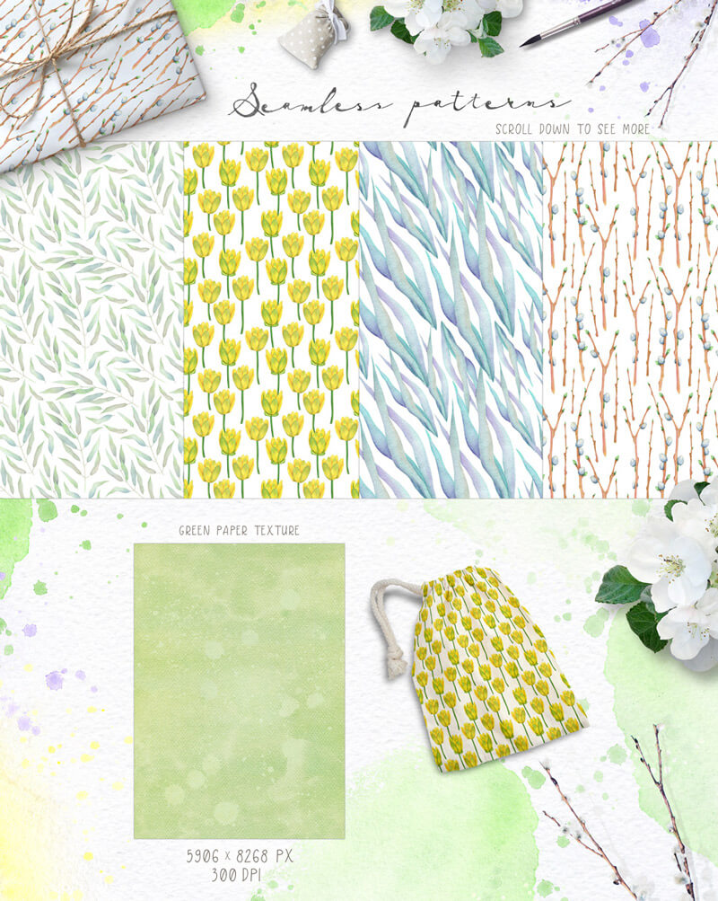 Spring Watercolor Collection 33