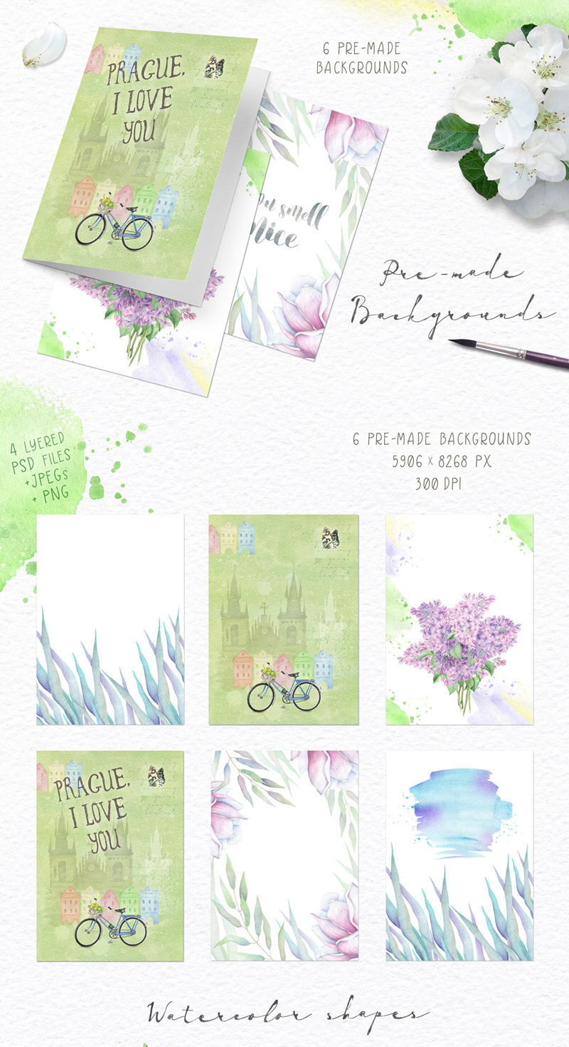 Spring Watercolor Collection 34