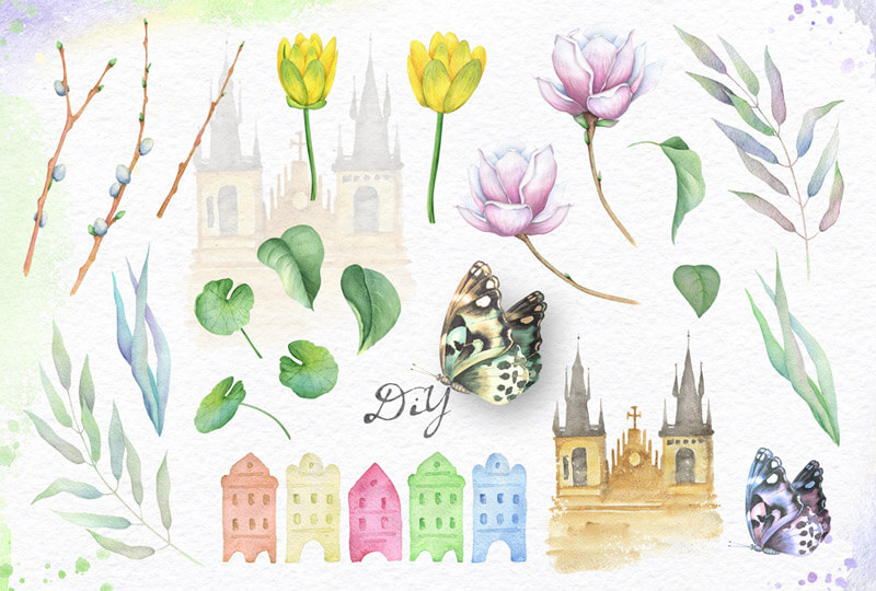 Spring Watercolor Collection 36