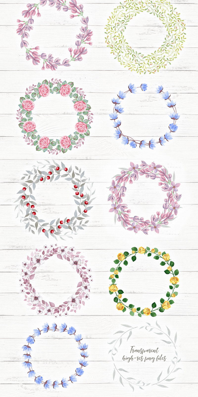 Spring Watercolor Collection 50