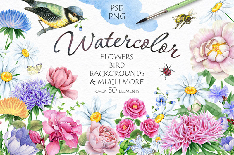 Spring Watercolor Collection 65