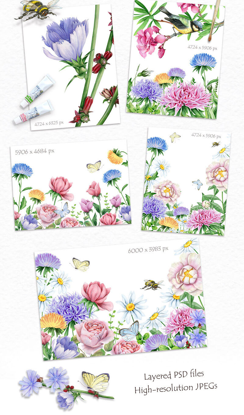 Spring Watercolor Collection 67
