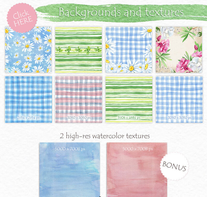 Spring Watercolor Collection 72