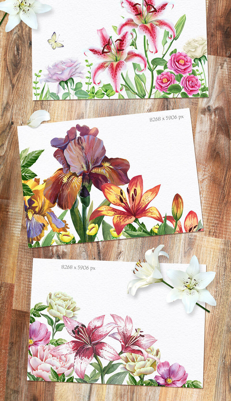 Spring Watercolor Collection 90