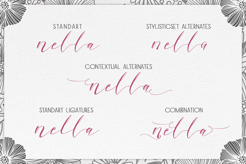 10 Awesome, unique calligraphy fonts Preview 27