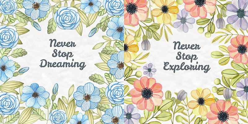10 Floral Frame Preview 04