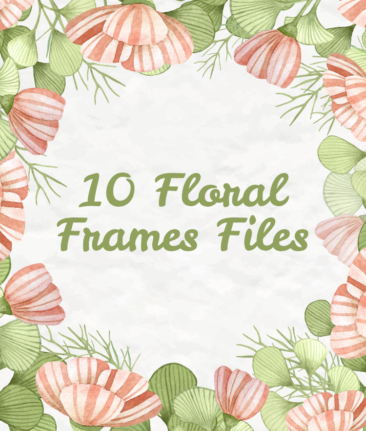 10 Floral Frame Preview Cover