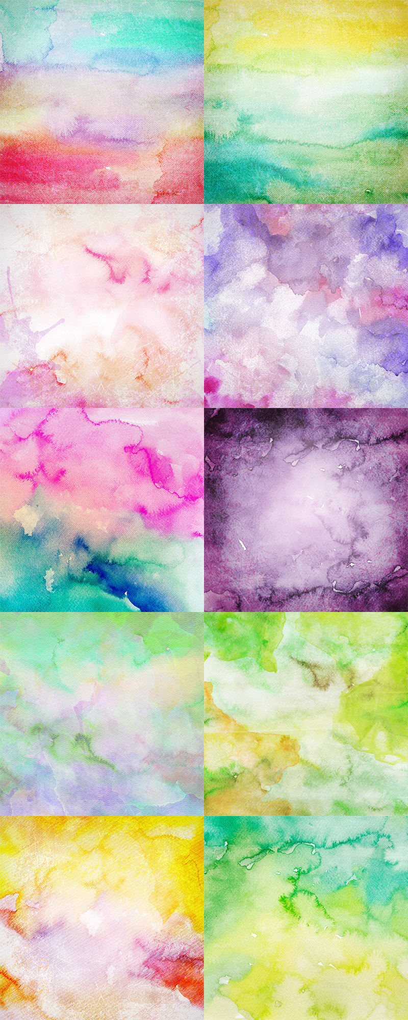 10 Watercolor Textures Preview 01