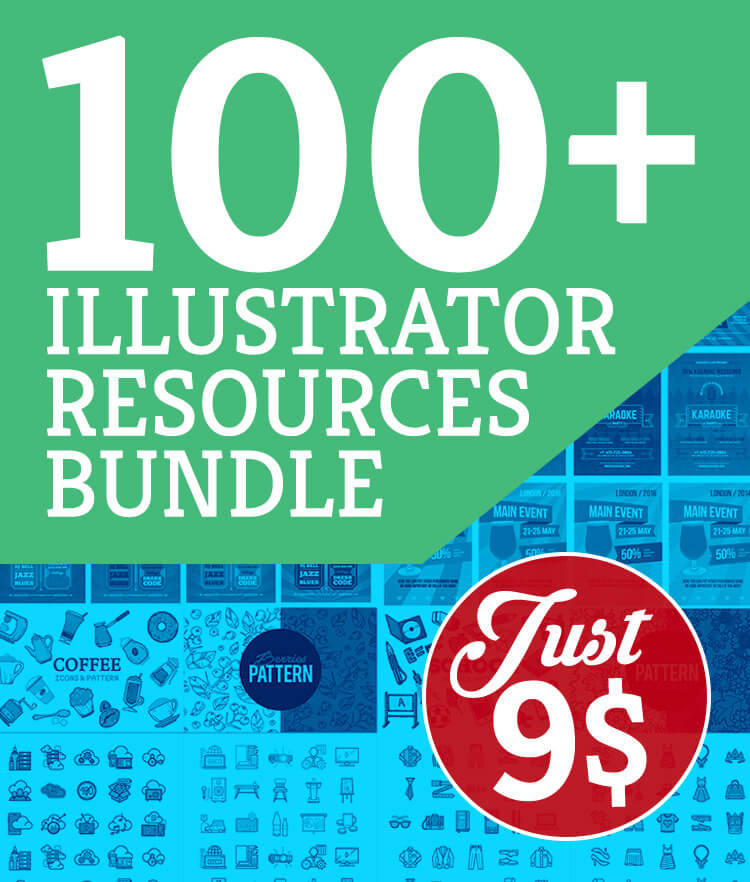 100 Illustrator Resources Bundle Cover