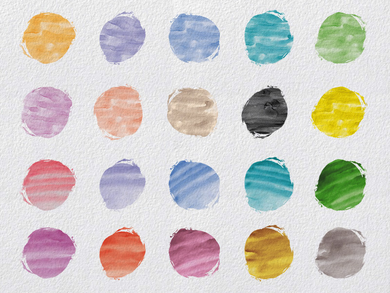1000 Vectors and Watercolors Bundle Preview 11