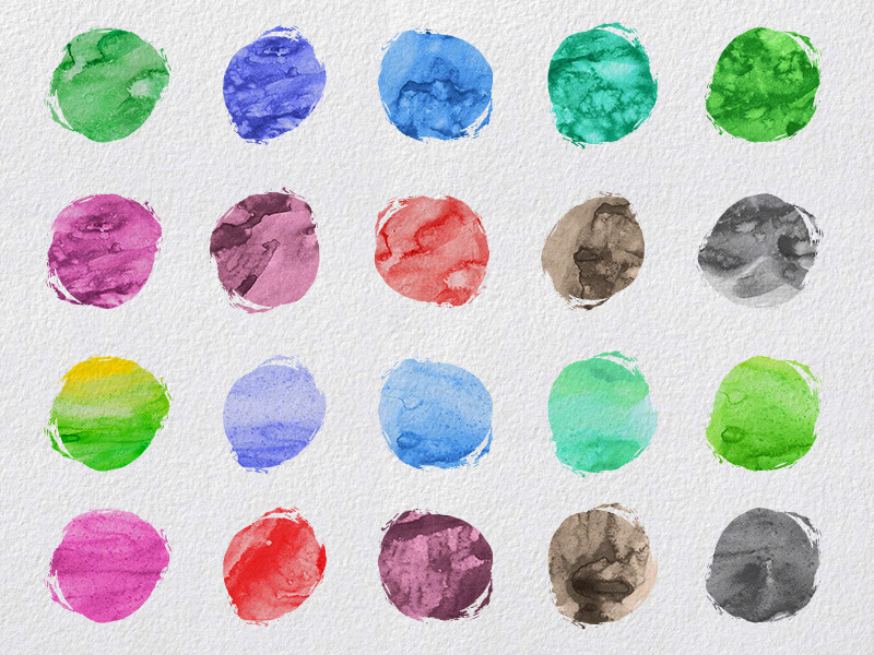1000 Vectors and Watercolors Bundle Preview 13