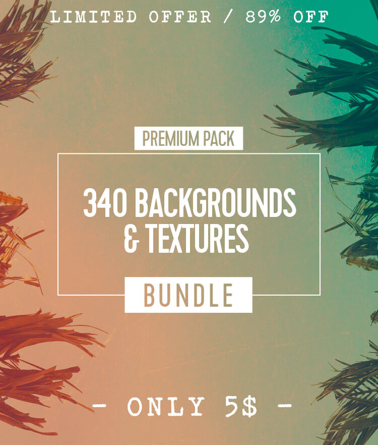 340 Backgrounds and Textures Bundle Cover