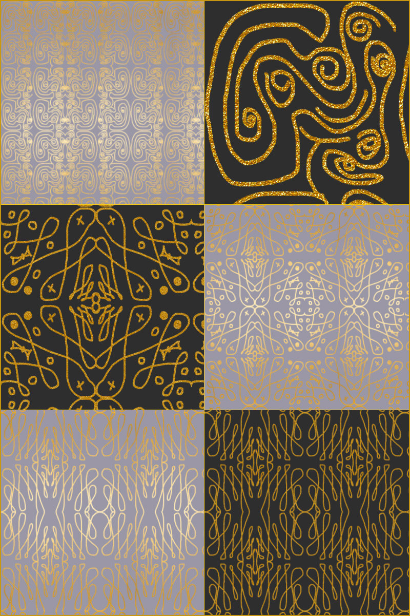 4 Beautiful Abstract Patterns Preview 01