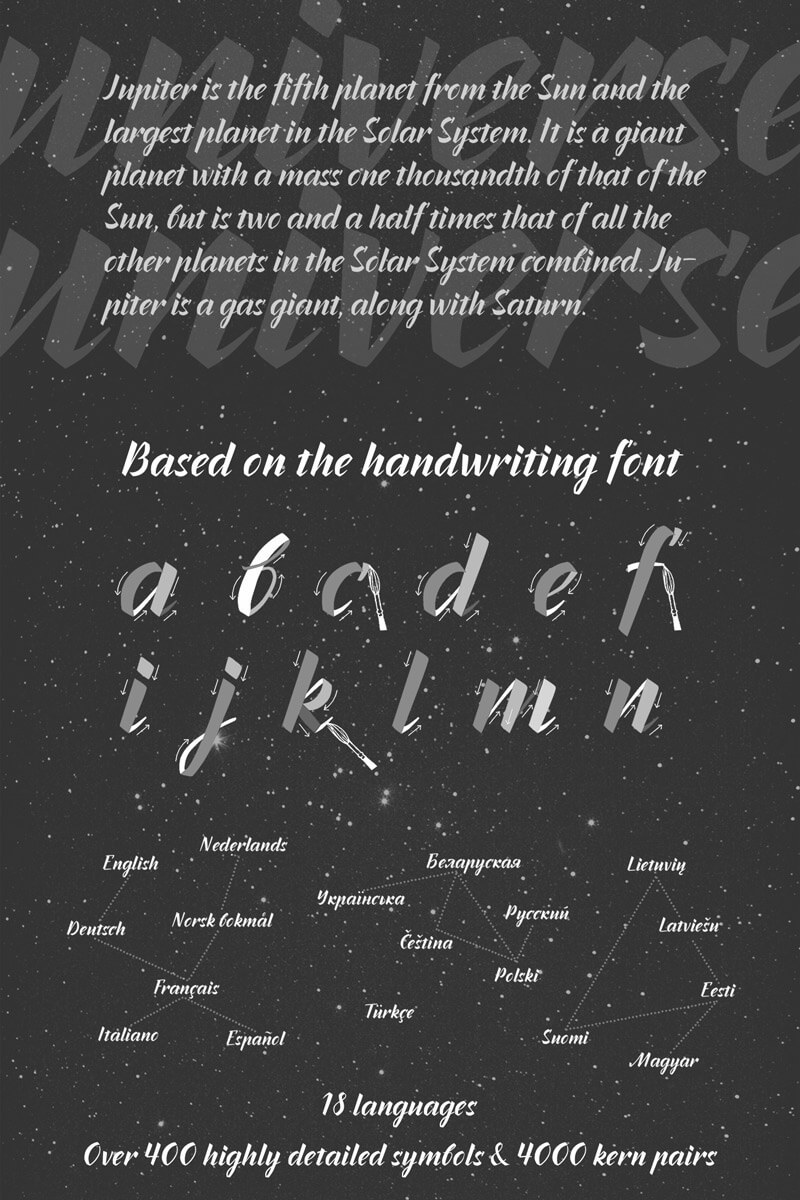 55 Modern Incredible Script Typefaces Preview 19