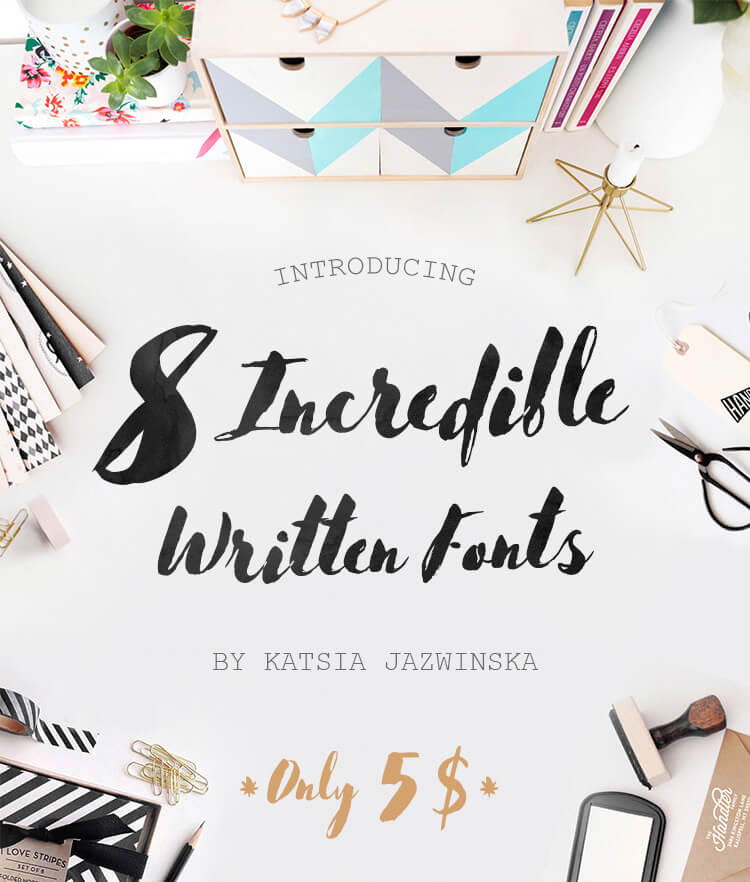 8 Incredible Written Fonts Cover