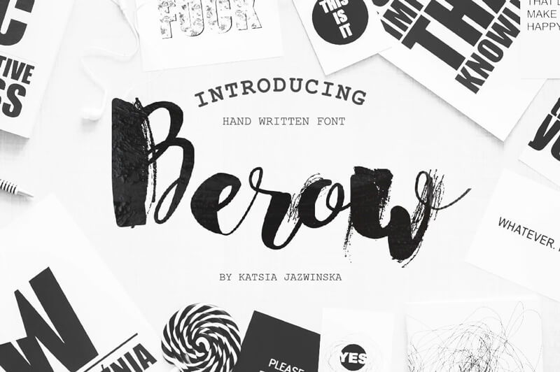 8 Incredible Written Fonts Preview 10