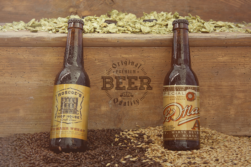 FREE Black and Tan Beer Mockup Preview 02