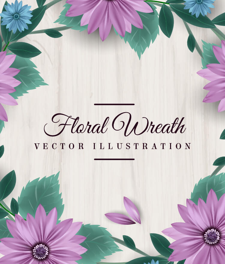FREE Floral Wreath Cover