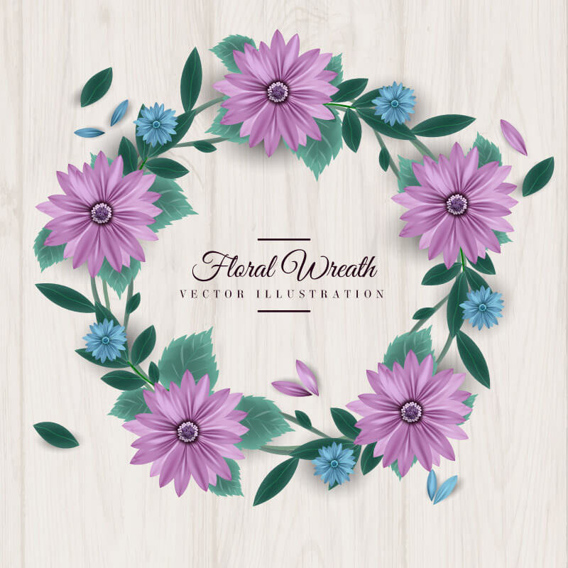 FREE Floral Wreath Preview 01