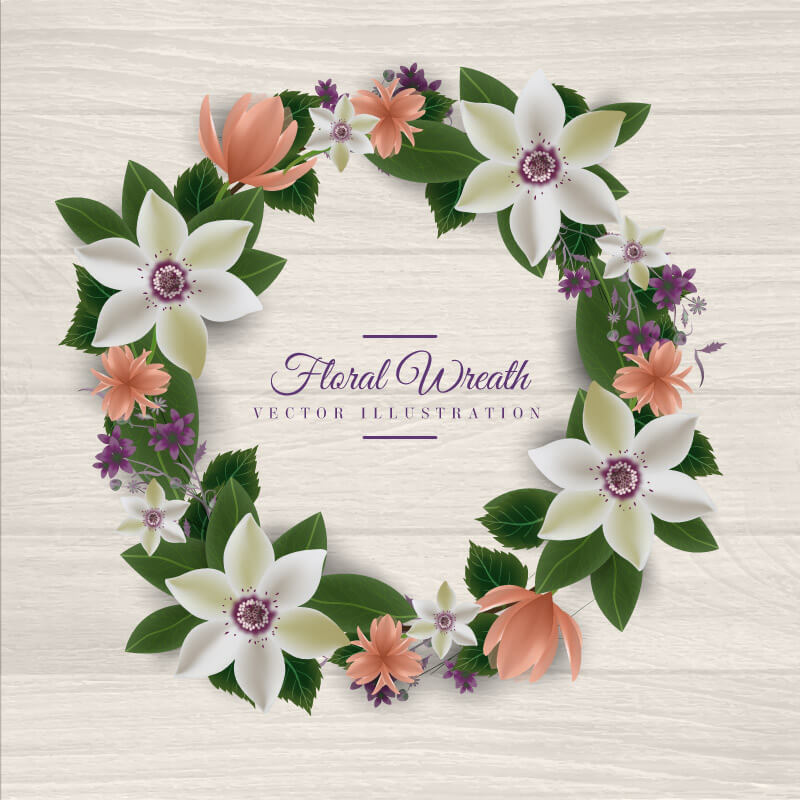 FREE Floral Wreath Preview 03
