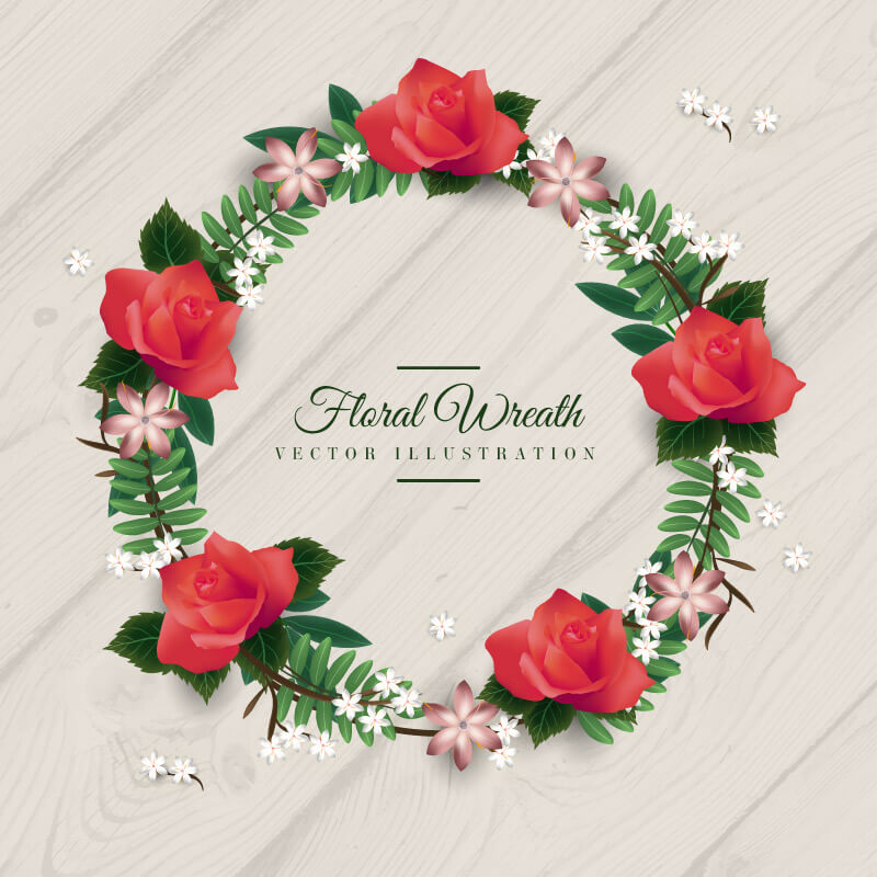 FREE Floral Wreath Preview 04