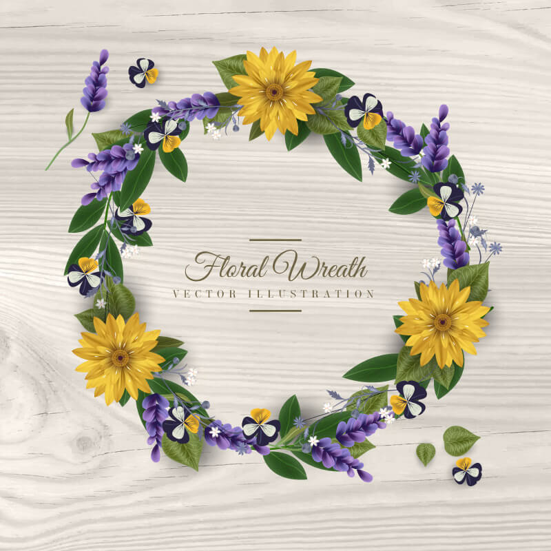 FREE Floral Wreath Preview 05