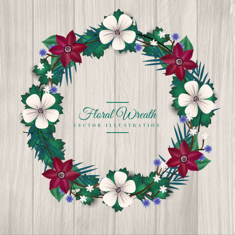 FREE Floral Wreath Preview 06