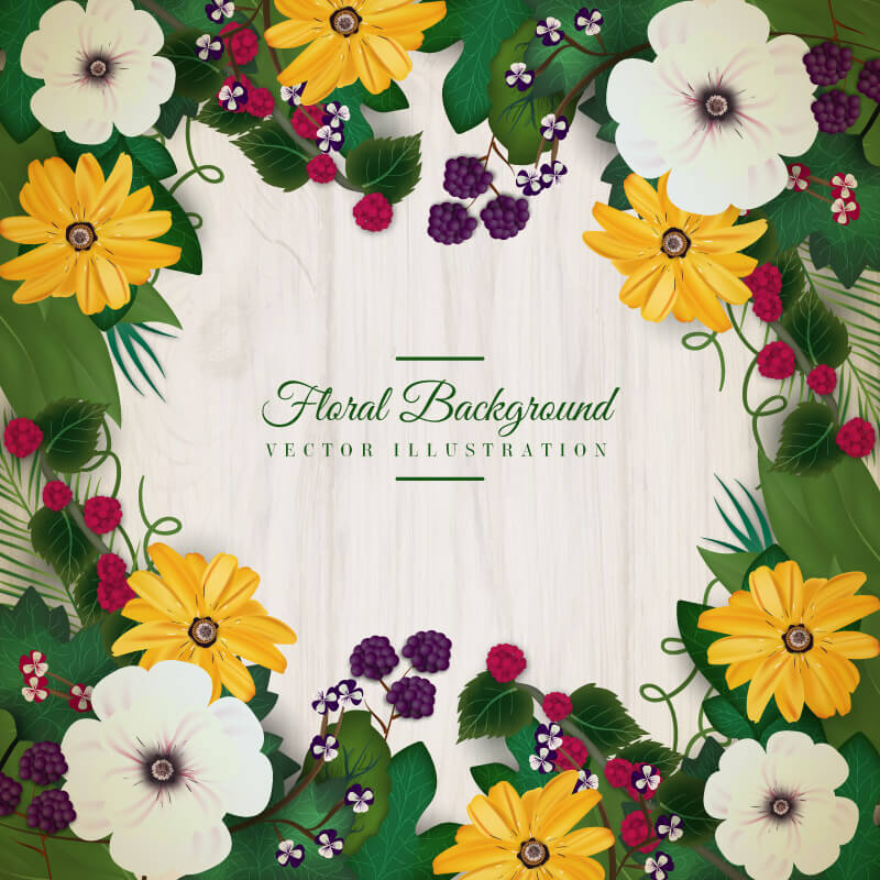 FREE Floral Wreath Preview 07