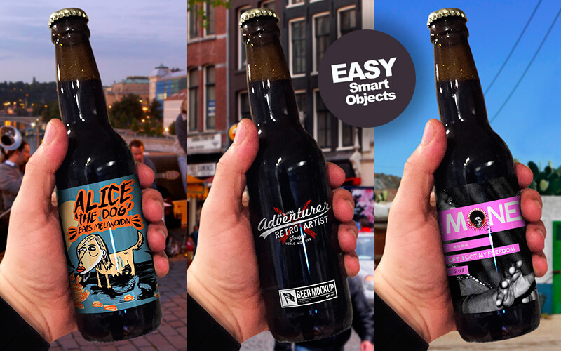 Free Realistic Beer Mockups Preview 09