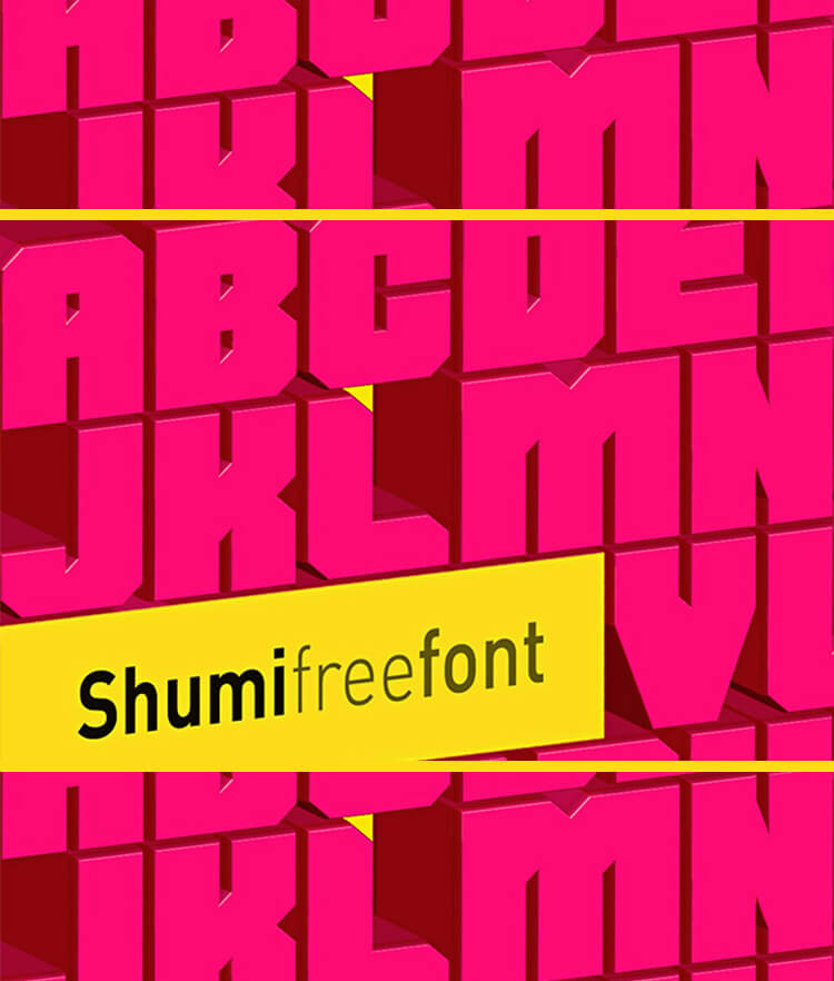 Free Shumi Font Cover