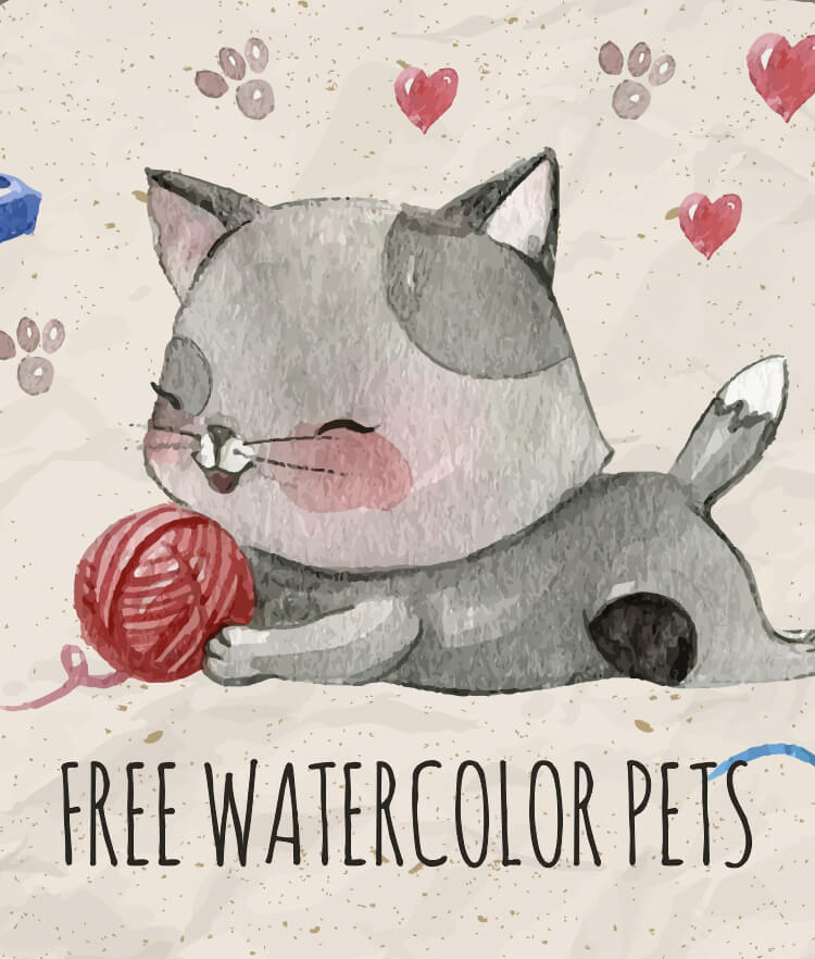 Free Watercolor pets Cover