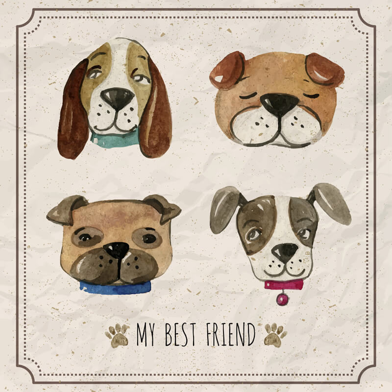 Free Watercolor pets Preview 06