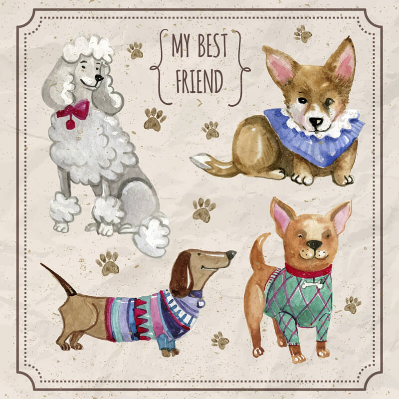 Free Watercolor pets Preview 08